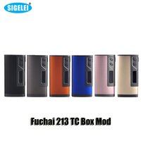 100% Original Sigelei Fuchai 213 TC Boîte Mod VW 213W Dual 18650 batterie Mod avec 0.91 pouces Ecran OLED