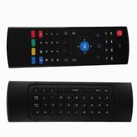 2.4G télécommande intelligente Air souris clavier sans fil 38 touches pour MX3 Android mini PC TV télécommande pour ordinateur portable noir