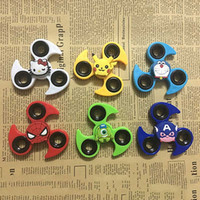 2017 Fire Wheel Fidget Spinner Cartoon Hand Spinner Tri Fidget Décompression Jouet EDC Pour Enfants Adultes