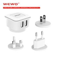 Universal Travel USB Charger Adapter 2. 4A Wall Portable EU+ U...
