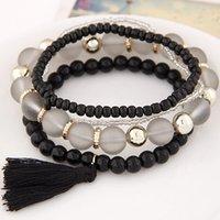 Fine Jewelry Multilayer Acrylic Beads Bracelet for Women Men...