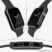 X6 Smartwatch Bluetooth Smart montre-bracelet Montre-bracelet Sport Watch Pour iPhone Smartphones Android Avec Camera Support SIM TF Card Luxe Nouveau