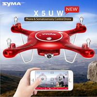 Nouveau Syma X5UW (X5SC X5SW X5HW mise à jour) FPV WIFI Transmission en temps réel RC Quadcopter 2.4G 4CH drone avec caméra HD