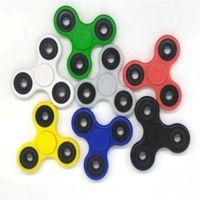 Tri-Spinner Fidget juguete creativo plástico divertido EDC Spinner mano para el autismo y el tiempo de rotación de ADHD ruido largo juguetes de estrés