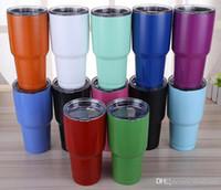 En existencia 23 colores Tumbler 30 oz Cups Taza de cerveza de coches Taza de gran capacidad Tumblerful 900ml tazas de Navidad