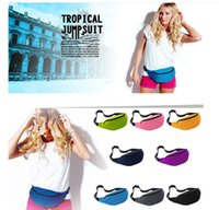 Unisex Portable multifonctionnel Sport Runner Fanny Pack Sacoche de ventre Bum Bag Fitness Running Belt Jogging Pouch Sac de taille 12 couleurs KKA2090