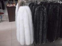Wholesale- free shopping 70cm Cap of fox down coat hat brim h...