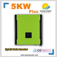 Горячее надувательство солнечного инвертора инвертора 5000W солнечного инвертора 48V к инверторам 220V 10KW MPPT Чисто инвертор синуса гибридный инвертор 40A заряжатель AC
