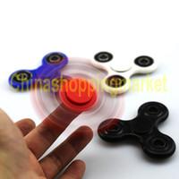 EDC HandSpinner acrylique en plastique triangulaire des doigts jouets à main Spinner Fidgets Gyro Stress Reliever jouets avec boîte