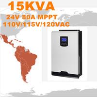 Горячее надувательство солнечного инвертора 15Kva 12Kw с инвертора сетки 24V к 120V 80A MPPT Чисто инвертор синуса инвертора синуса 100A заряжателя AC