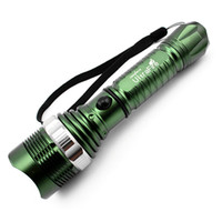 T6 LED rechargeable flashlight light mechanical rotating zoo...