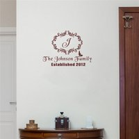 Personalized Family Name and Established Date Wall Decor Sti...