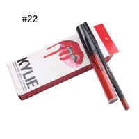 Kylie Lipliner lápiz Velvetine Liquid Maquillaje Lip Gloss Make Up Velvetine líquido Matte lápiz labial en rojo terciopelo