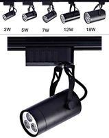 3W 5W 7W 12W 18W Современный регулируемый Трек свет Потолочные лампы вниз прожектор Black Shell # 28