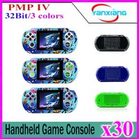 30pcs 2017 Nouveau PMP-IV PMP4 32Bit écran LCD Handheld Game Console Pocket Video Game Player YX-PMP4