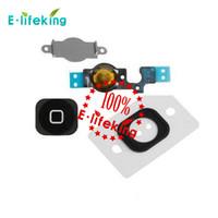 Noir Blanc Pour iPhone 5 iPhone 5C Accueil Bouton Flex Cable Bracket Titulaire Key Ruban Câble Pièces Remplacement
