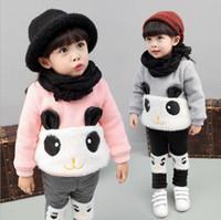 Korean Style Kids Winter Clothing Girl Panda Pullover+ Pants...