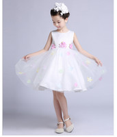 Fower Girl Dresses for Wedding Kids Princess Lace Ribbon Wed...