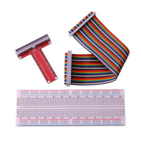 New 830 tie- points breadboard + 40Pin Rainbow Cable + GPIO T...