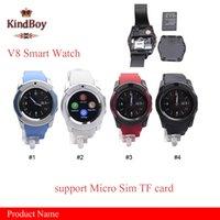 2016 V8 Montre Smart Montres Bluetooth Android avec 0.3M Camera MTK6261D Smartwatch pour téléphone android Micro Sim TF carte