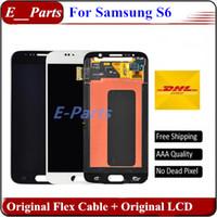 Original Pour Samsung Galaxy S6 lcd Grade AAA Pas de pixels morts G920 G920F G920A G920T lcd écran d'affichage écran tactile Digitizer Assemblée