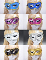 Free EMS 100 pieces Mixed Halloween Eye masks Party masks ma...