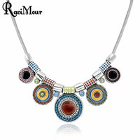 RAVIMOUR Collier Femme Vintage Silver Chokers Women Necklace...