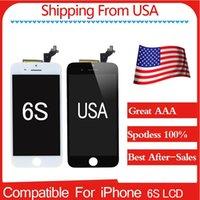 Livraison gratuite Écran LCD de première qualité A + (100% Spotless) Nouveau pour iPhone 6s 4.7 Noir / Blanc Meilleur service après-vente