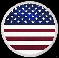 50PCSRound quadrate American Flag pattern Beach Beach Towel ...