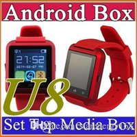 30X Bluetooth Smartwatch U8 U Montres Montres Montres Smart Watch pour iPhone 4 4S 5 5S Samsung S4 S5 Note 2 Note 3 HTC Android Phone Smart A-BS