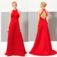 Sexy Red Prom Dress Long Backless Custom Made A Line Sweep T...