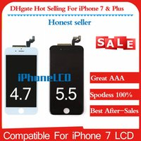 Full Orignal Pour iPhone 7 7 Plus Écran LCD A + Qualité 4.7 5.5 inche Ensemble complet avec remplacement de cadre Blanc Noir