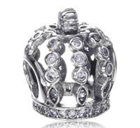 2017 Printemps Cristal Couronne Tiara Charme Pour Pandora Bracelet DIY Bead Charm Bijoux en argent sterling