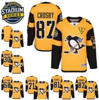 2017 Stadium Series Hockey Jersey Men' s Pittsburgh Peng...