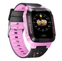 Kids Tracker Watch Kids Smart Watch avec Flash Light Touch Screen SOS Call LBS Local Finder pour enfant Cute Sport modèle Y21