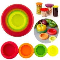 Reutilizables de Silicona de alimentos de alimentos de silicona Huggers frutas verduras contenedores de almacenamiento con bolsa de OPP paquete OOA1384