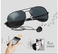 Lunettes intelligentes Gonbes K3-A Lunettes de soleil Bluetooth avec fonction de commande vocale Lunettes de sport de musique Smart Fashion support iphone andriod free DHL