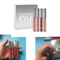 KYLIE отдыха издание блеск для губ Kit отдыха Издание Kylie МАТОВЫЙ LIQUID блеск для губ матовая помада коллекция Дженнер набор Рождественский подарок