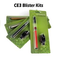 CE3 Kits de ampolla Bud Kits de tacto Vape Kit O Pen Vape Tanque E Cigarrillos Kits CE3 Cartuchos 510 Vaporizador 280mah Batería