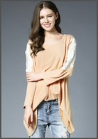 summer new style hot sale women lace panedlled sleeve t- shir...