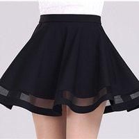 Fashion Grid Design women skirt elastic faldas ladies midi s...