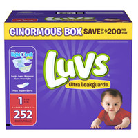 Luvs Ultra Leakguards Disposable Diapers (Size 1 - Size 6)