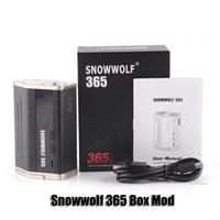 100% Original Snowwolf 365 Box Mod VW TC 365W 4 18650 Batterie Big Vapor Mod pour 510 Thread Atomizer