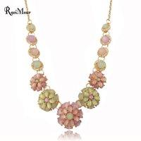 Collier Femme Fashion Opal Flower Necklaces & Pendants for W...