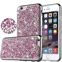Iphone 7 Galaxy ON5 cas de bijoux de diamant de TPU pour Iphone 6 Cas S7 cristal de luxe Glitter Bling Puissance Soft Flash Case Opp