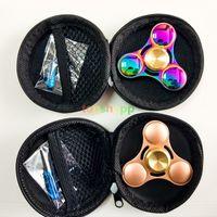 Luxury Rainbow Colors Tri- Fidget Hand Finger Spinner Aluminu...