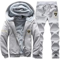 Tracksuits Thick Inner Wool Hoodie Men Hat Casual Active Sui...