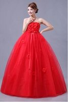 Red Ball Gown Cheap Vintage Wedding Gowns 2016 New Fashionab...