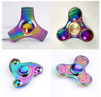 4 Styles Mix Creative Colorful Rainbow Whirl Metal Hand Fidg...