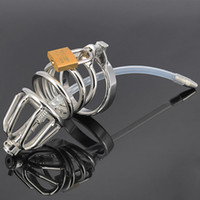 Stainless Steel Male Chastity Device, Cock Cage with Silicone...